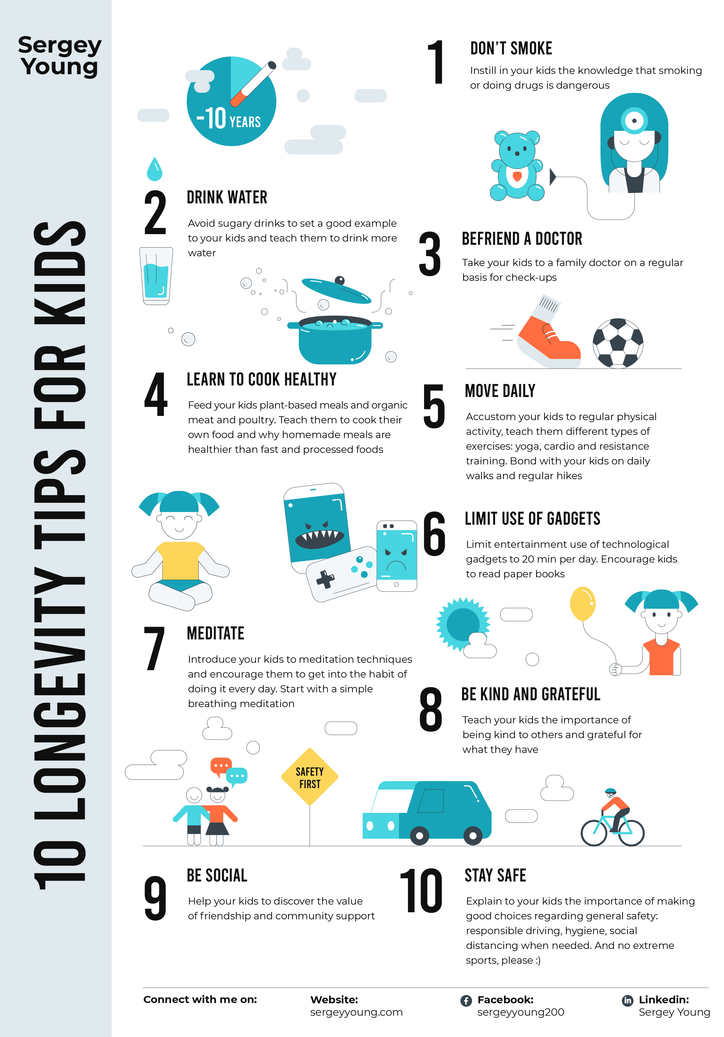 10 Longevity Tips for Kids